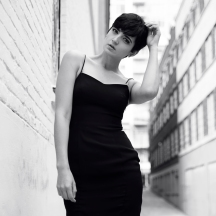 black dress woman